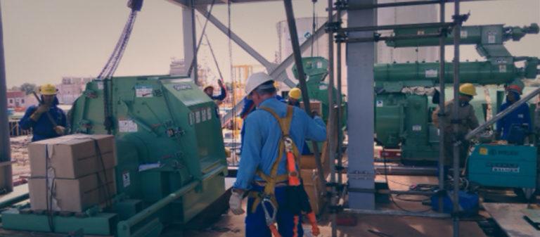 Montagem e manutenção em complexos industriais